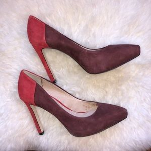 Louise et Cie two toned red pumps